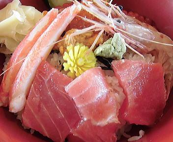 とびしま 王様の海鮮丼 アップ