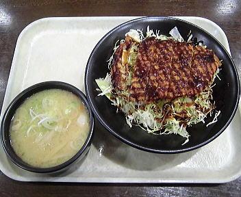 磐梯山SA ソースカツ丼+豚汁