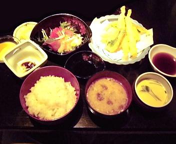 かき忠 ○得お刺身天ぷらセット