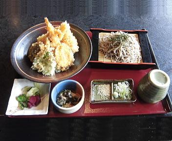 越後茶屋総本店 天丼御膳(冷たいそば+大盛)