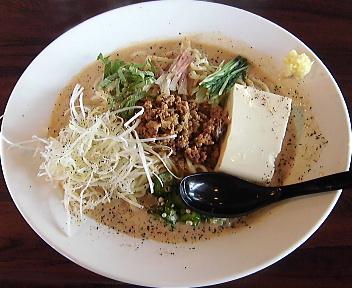 あしら 自家製豆腐と夏野菜の冷製味噌麺(大盛)