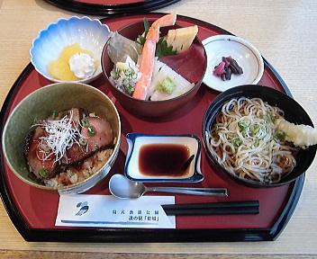 はまなす 鳥海選び丼(秋田由利牛ローストビーフ・ミニ海鮮丼)