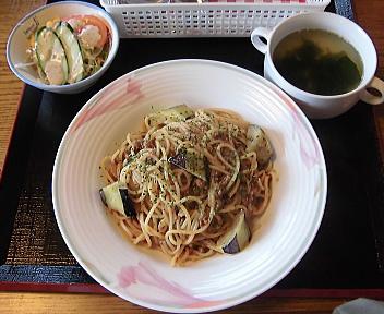 Sanjiro 本日のパスタ(茄子のミートソース)