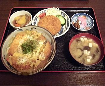 気風 かつ丼+ハムかつ