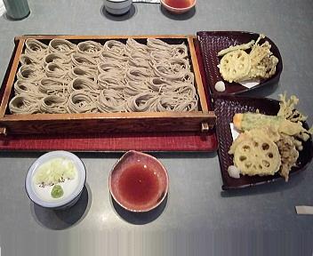 小嶋屋新潟店 へぎそば(三人前)+季節の天ぷら+野菜天ぷら