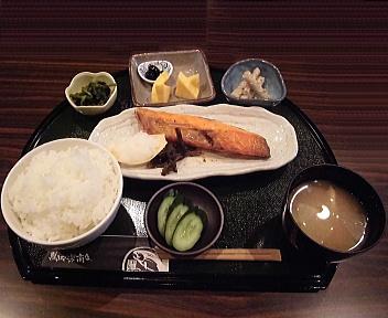 鮭山マス男商店桜木店 天然本紅さけ膳(ご飯大盛)