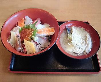 鳥海山 海鮮丼+あら汁