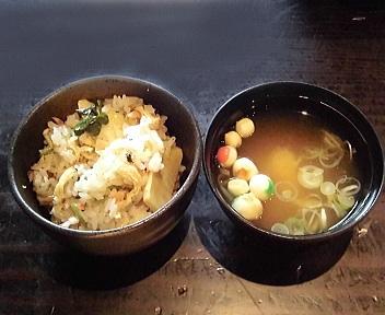 ICHIE 和食Aランチ 桜海老と竹の子の土鍋御飯