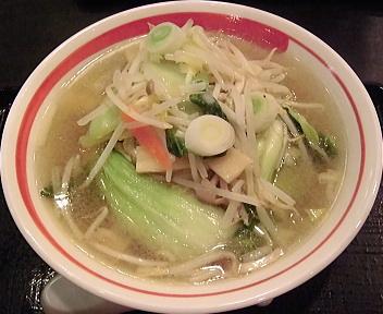 亜麺坊新潟店 8種野菜のタンメン