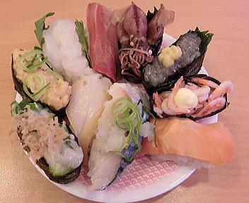 かっぱ寿司由利本荘店 盛り合わせ