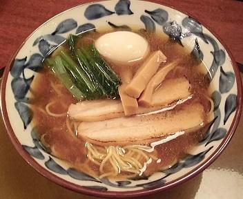 三宝亭村上店 味玉煮干し醤油らーめん