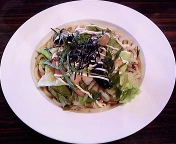 ガスト新潟上王瀬店 海老と9種の野菜のサラダうどん