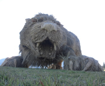 わらアートまつり2017 ライオン