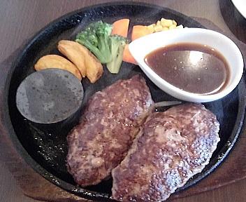ばるむ食堂 国産牛ハンバーグステーキ(Aランチ・ダブル)
