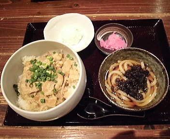 ボンド駅南店 スタミナ丼+うどんセット