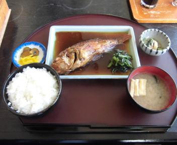 さどの味いちば 煮魚定食(かさご)