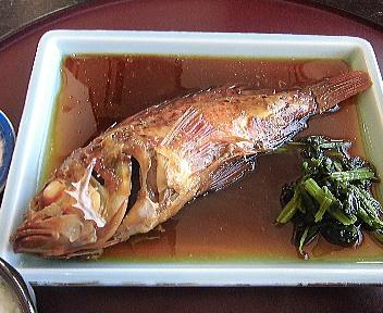 さどの味いちば 煮魚定食(かさご)アップ