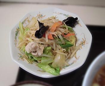 肉よし ラーメン定食(野菜炒めん)
