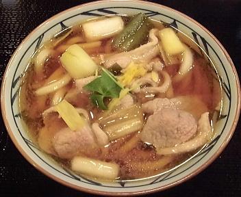 丸亀製麺新潟河渡店 鴨ねぎうどん