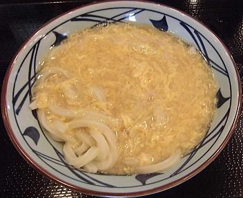 丸亀製麺新潟河渡店 玉子あんかけ