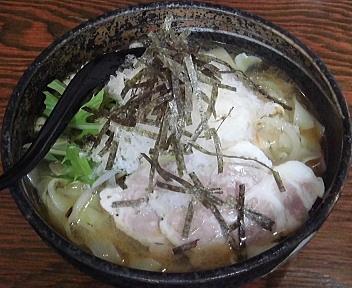 大輝 冷し塩らーめん(平麺・大盛り)