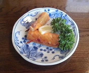 中川 すし懐石 焼き物(鮭のハラス)