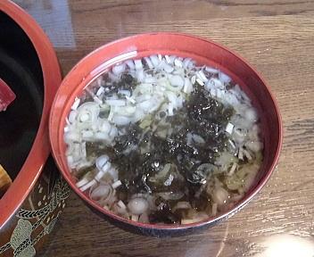 中川 すし懐石 味噌汁