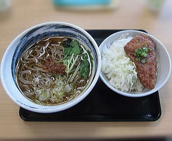 米山サービスエリア(上り) かけ蕎麦(たれかつ小丼付)