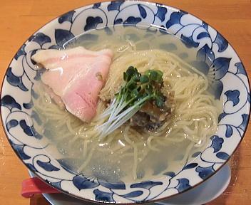 清水 牡蠣と日本酒の冷やしそば