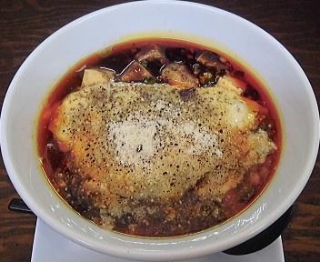 海老寿DELUX 麻婆麺+チーズ増し