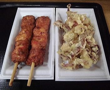 鳥海ふらっと イカのつみれ焼き+イカの天ぷら