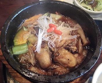 三宝茶楼河渡店 石焼牡蠣あんかけ炒飯&担々麺セット 石焼牡蠣あんかけ炒飯