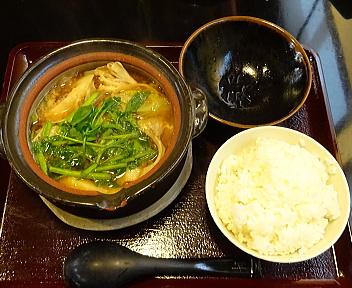 土鍋屋 きりたんぽ鍋+半ライス