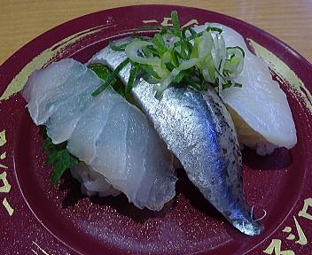 スシロー新潟赤道店 天然魚3貫盛り