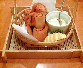 秋鮭とパンのいそべ揚げ