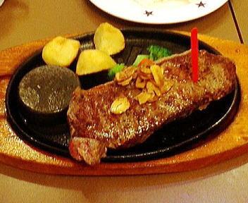 ステーキのどん ガーリックサーロインステーキ