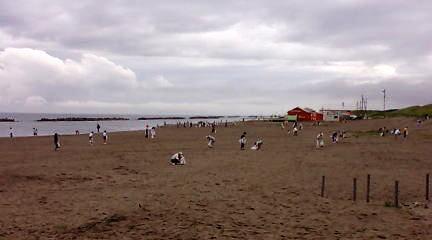 朝の青山海岸(海岸清掃)