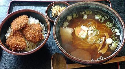 志加豪 ラーメンとかつ丼セット
