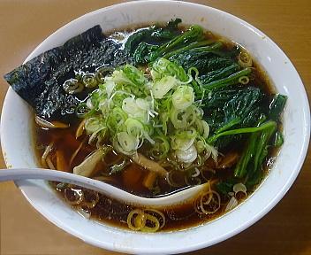 青島司菜ときめき ラーメン(大盛)+刻みねぎ+ほうれん草100円
