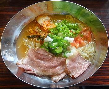 ガスト新潟上王瀬店 山芋オクラとローストビーフの冷麺
