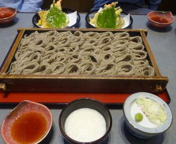 小嶋屋新潟店 へぎそば+天ぷら+とろろ