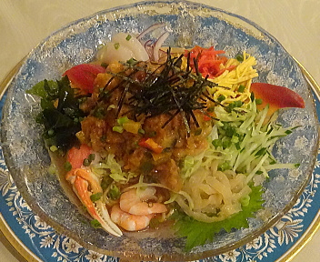 慶楽 あんかけ冷麺~海鮮盛り~