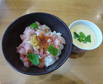 くら寿司新潟紫竹山店 くらランチ(旬の海鮮丼+茶碗蒸し)