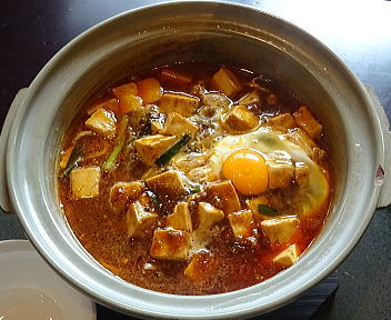 三宝茶楼河渡店 鍋焼き四川麻婆麺