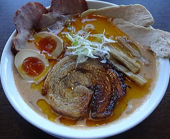 真玄弁天橋通店 濃厚海老みそらぁ麺(大盛)+自家製三種のチャーシュー盛り