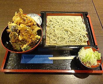 あき乃 B定食(もり蕎麦普通盛りと野菜天丼)