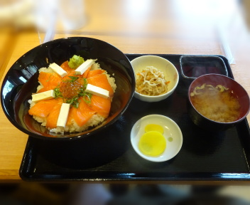 丼どん亭 サーモンチーズ丼